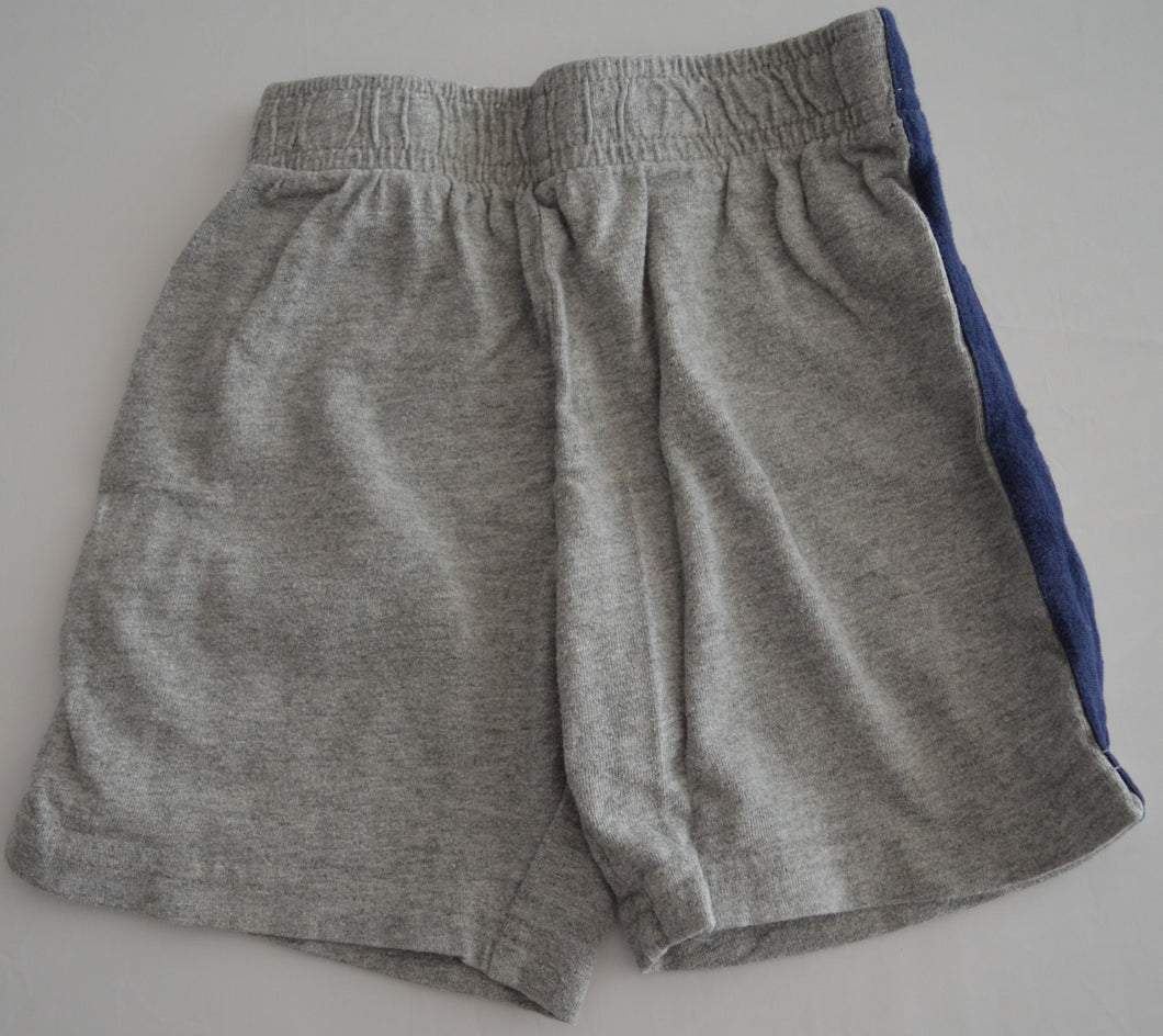 The Children's Place Grey with Navy Racing Stripe Shorts