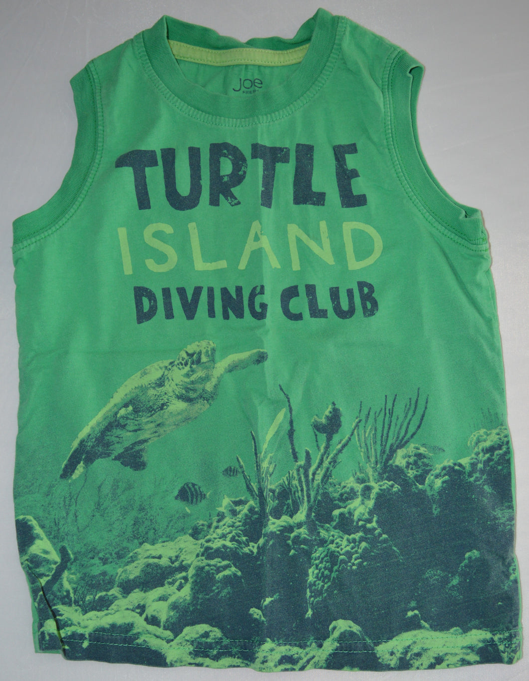 Joe Fresh Green Turtle Island Diving Club Tank Top
