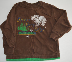 Faded Glory Brown Bear Lodge Long-sleeve Shirt
