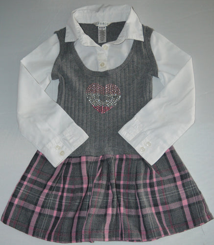 George Grey and Pink Uniform Dress