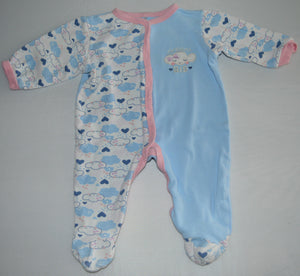 Baby Gear Blue and White Dream Big Cloud Sleeper