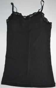 George Black with Lace Neckline Tank Top