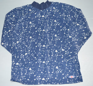 Wanna Wear Blue with White Stars Long-sleeve Shirt