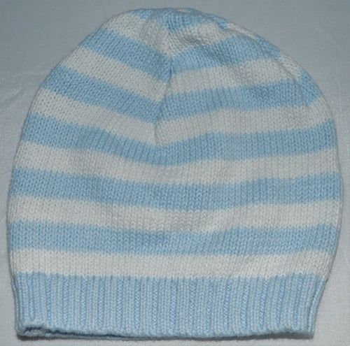 Tots Fifth Avenue Blue and White Striped Knit Hat