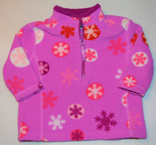 Load image into Gallery viewer, B.U.M. Equipment Purple with Red White Pink and Red Snowflake Fleece 1/4 Zip-up Sweater