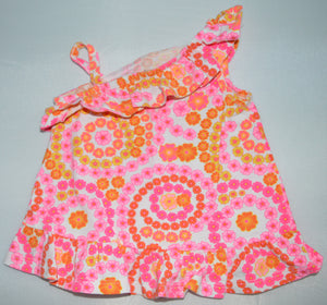 George Pink and Orange Flower Tank Top