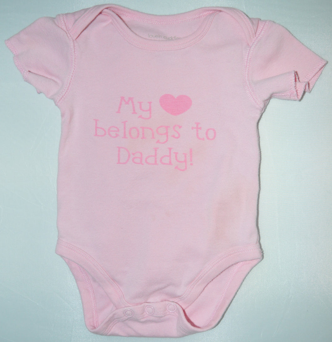 Love'n Cuddles Pink My Heart Belongs to Daddy Onesie