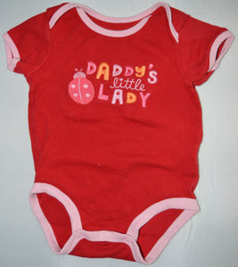 Carter's Red Daddy's Little Lady with Lady Bug Onesie