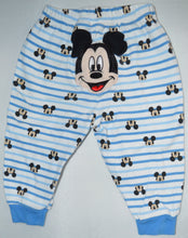 Load image into Gallery viewer, Disney Baby White with Blue Stripes Mickey Mouse Pajama Pants