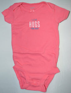 Carter's Pink I Love Hugs From Daddy Onesie