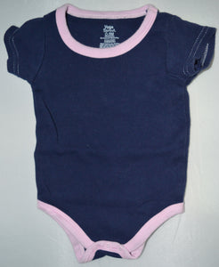Yoga Sprout Navy and Pink Onesie