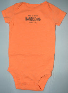 Carter's Orange This is What Handsome Looks Like Onesie