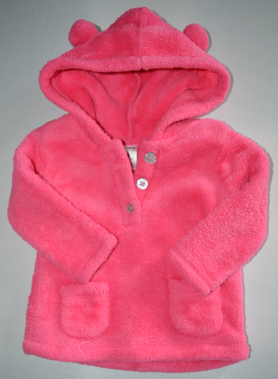 Carter's Pink Fleece Hooded Pullover Sweater