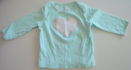 Carter's Teal with Pink Heart Long-sleeve Shirt with Matching Pants
