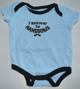 Duck Duck Goose Blue I Answer to Handsome Onesie