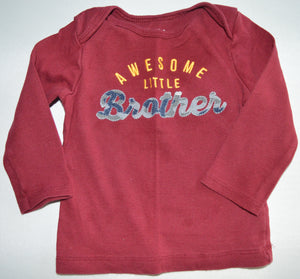 Carter's Burgundy Awesome Little Brother Long-sleeve Shirt