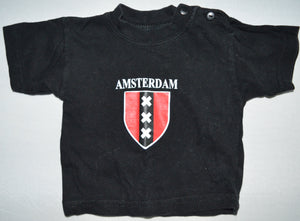 Europe Trend Sports Black Amsterdam T-shirt