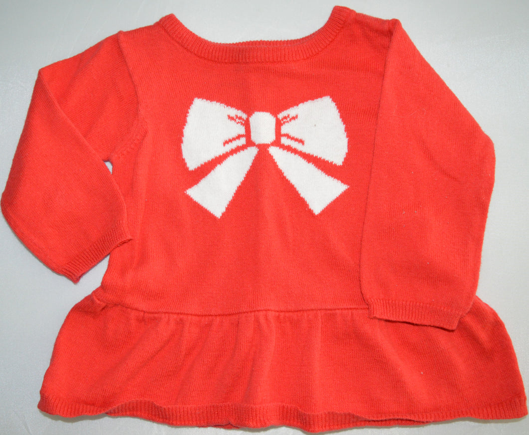 Carter's Red with White Bow Sweater