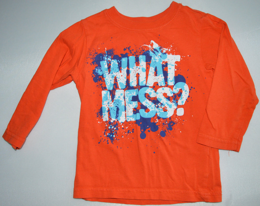 The Children's Place Orange and Blue What Mess? Long-sleeve Shirt