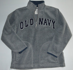 Old Navy Grey with Blue 1/4 Zip-up Fleece Sweater