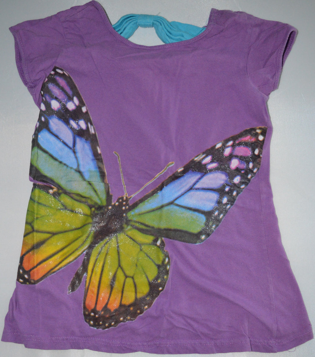 Girl Confidential Purple Butterfly T-Shirt
