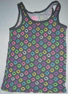 Old Navy Grey with Colourful Circles Tank Top