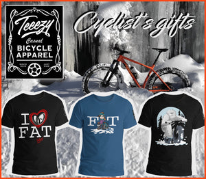 Christmas cycling t-shirts : a great gift idea for the cyclist on your list!