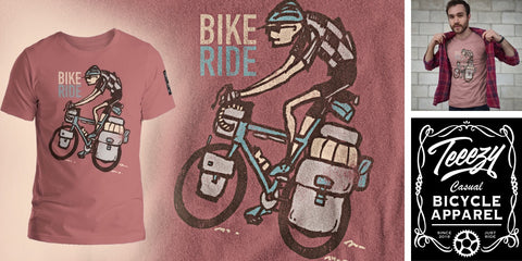 Vintage Bike Touring T-Shirt - Ad