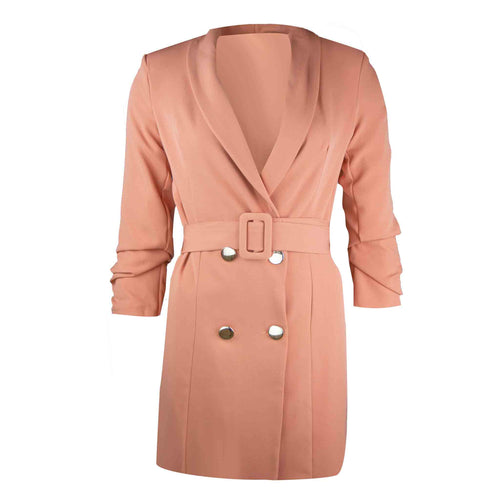 Blazer belt dress