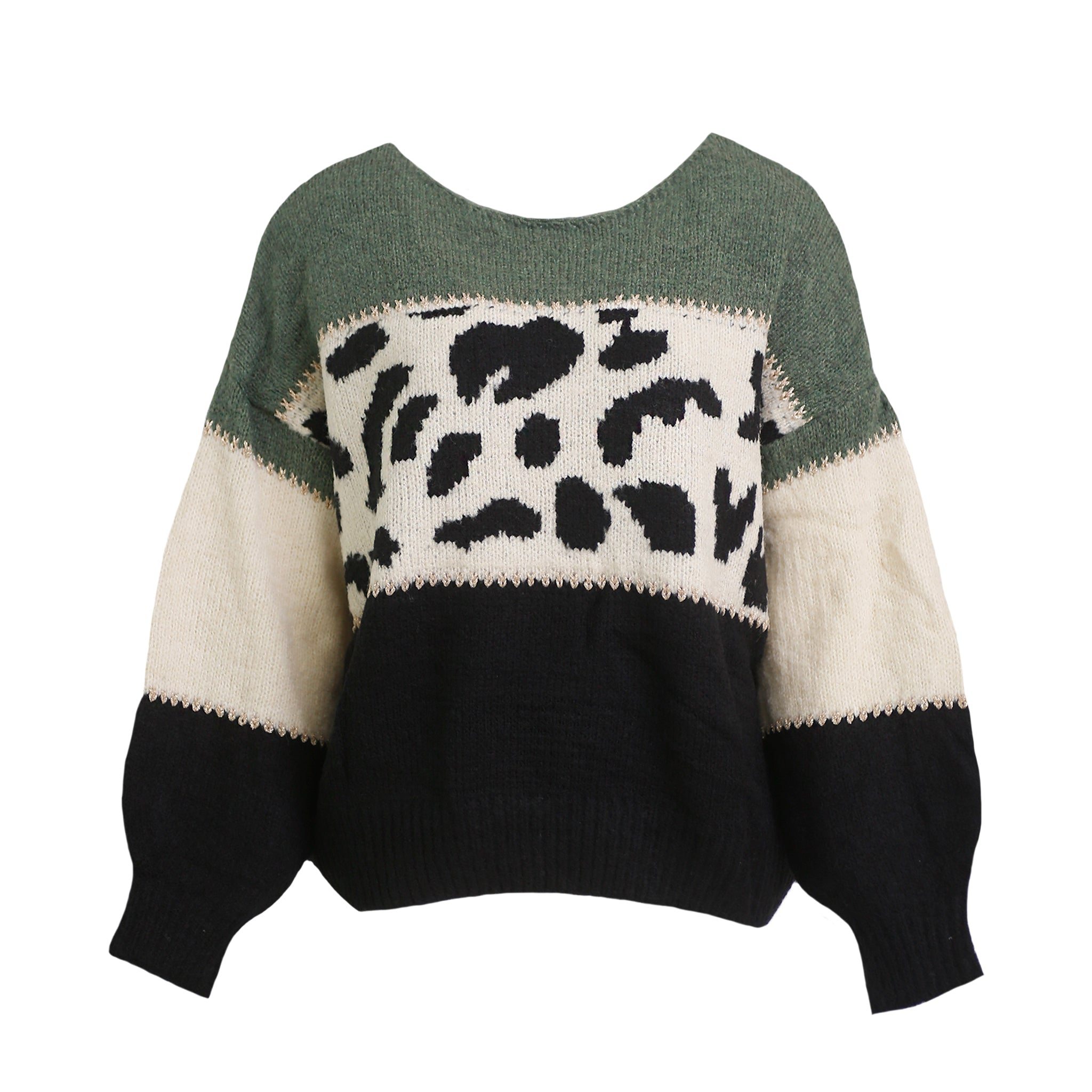 Leo green sweater