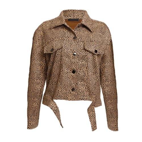 Suedine dots jacket