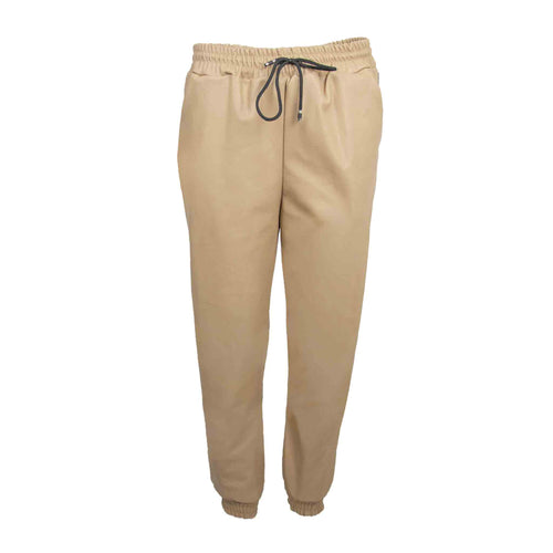 PU jogging pants