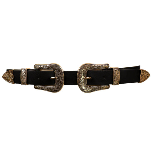 Double Buckle Belt Gold