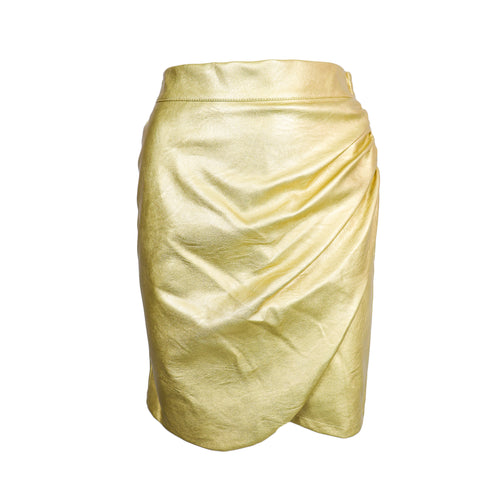 Golden PU Skirt