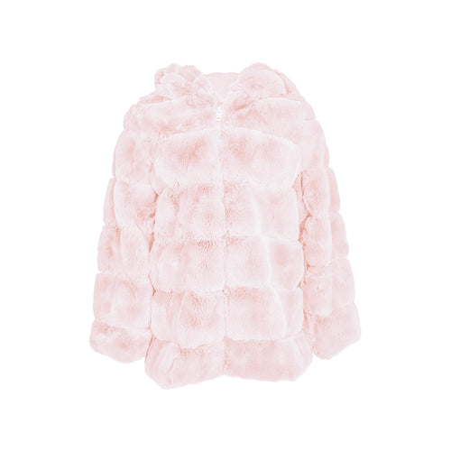 Kids Fluffy Coat Capuchon