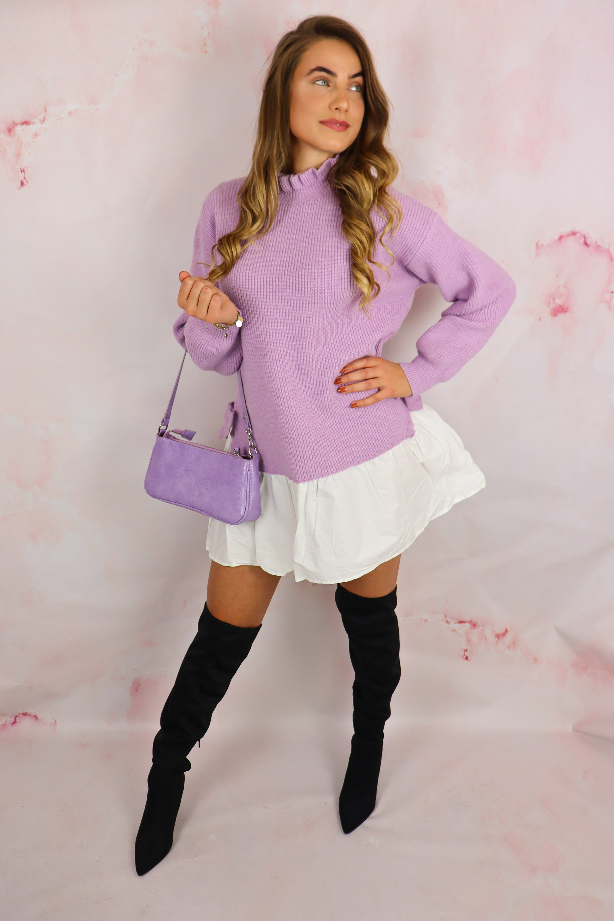 Knitted Blouse Dress