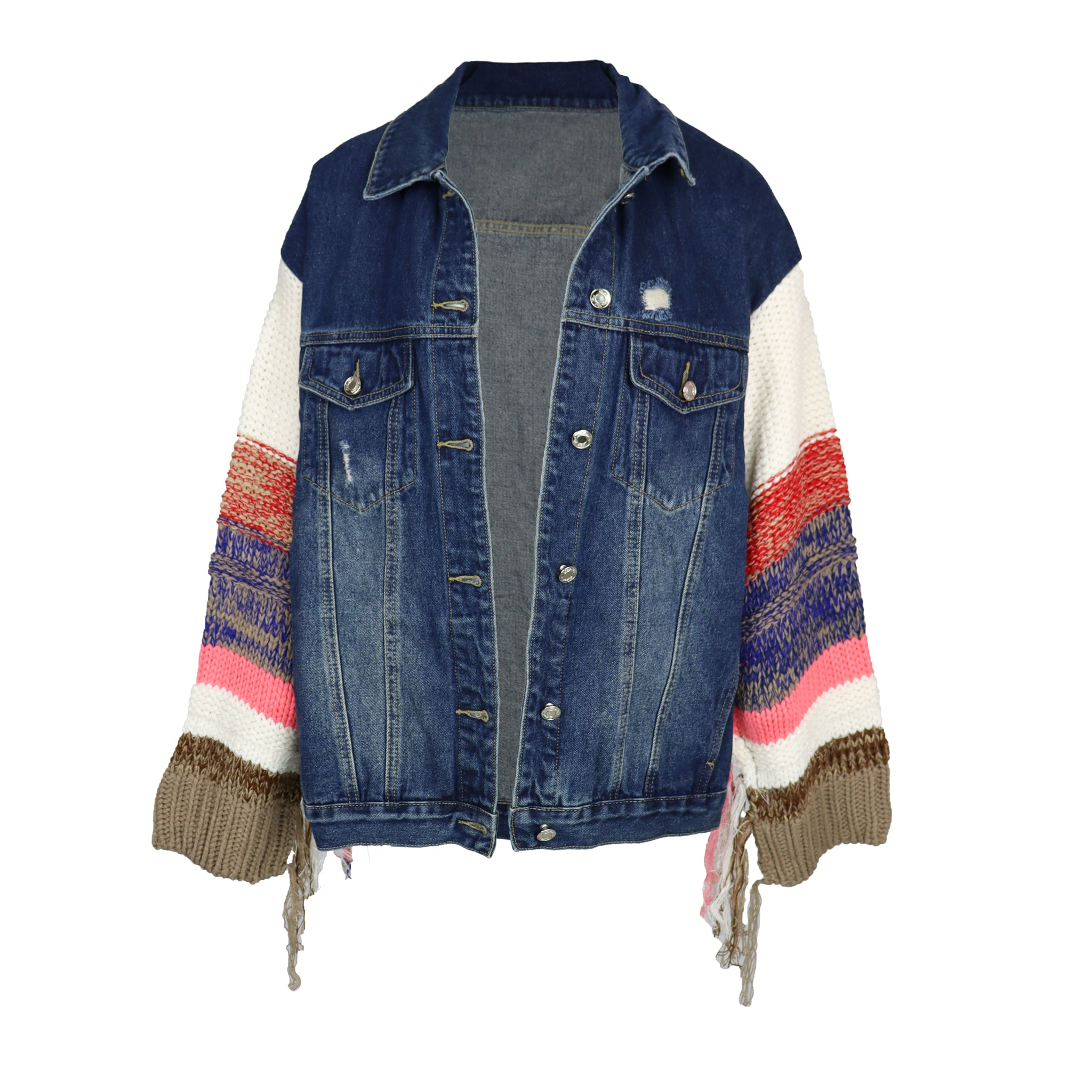 Knitted Denim Jacket