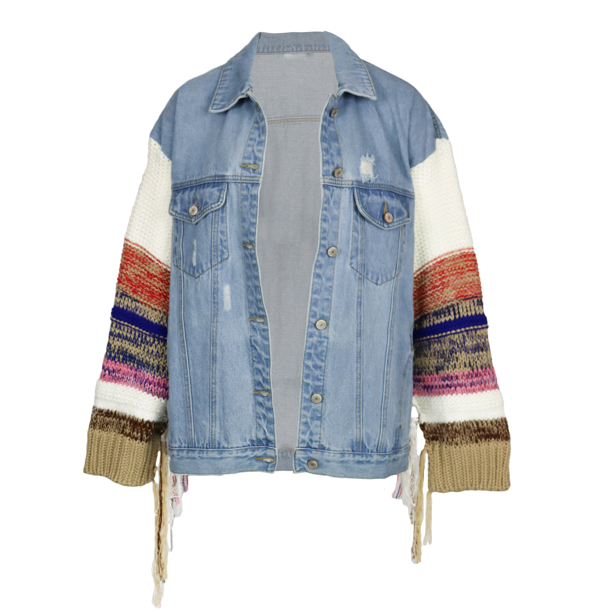 Different Stores Knitted Denim Jacket