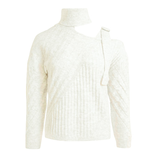 Open Shoulder Col Sweater