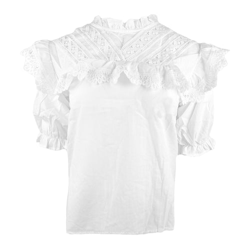 Puff Sleeve Broderie Top