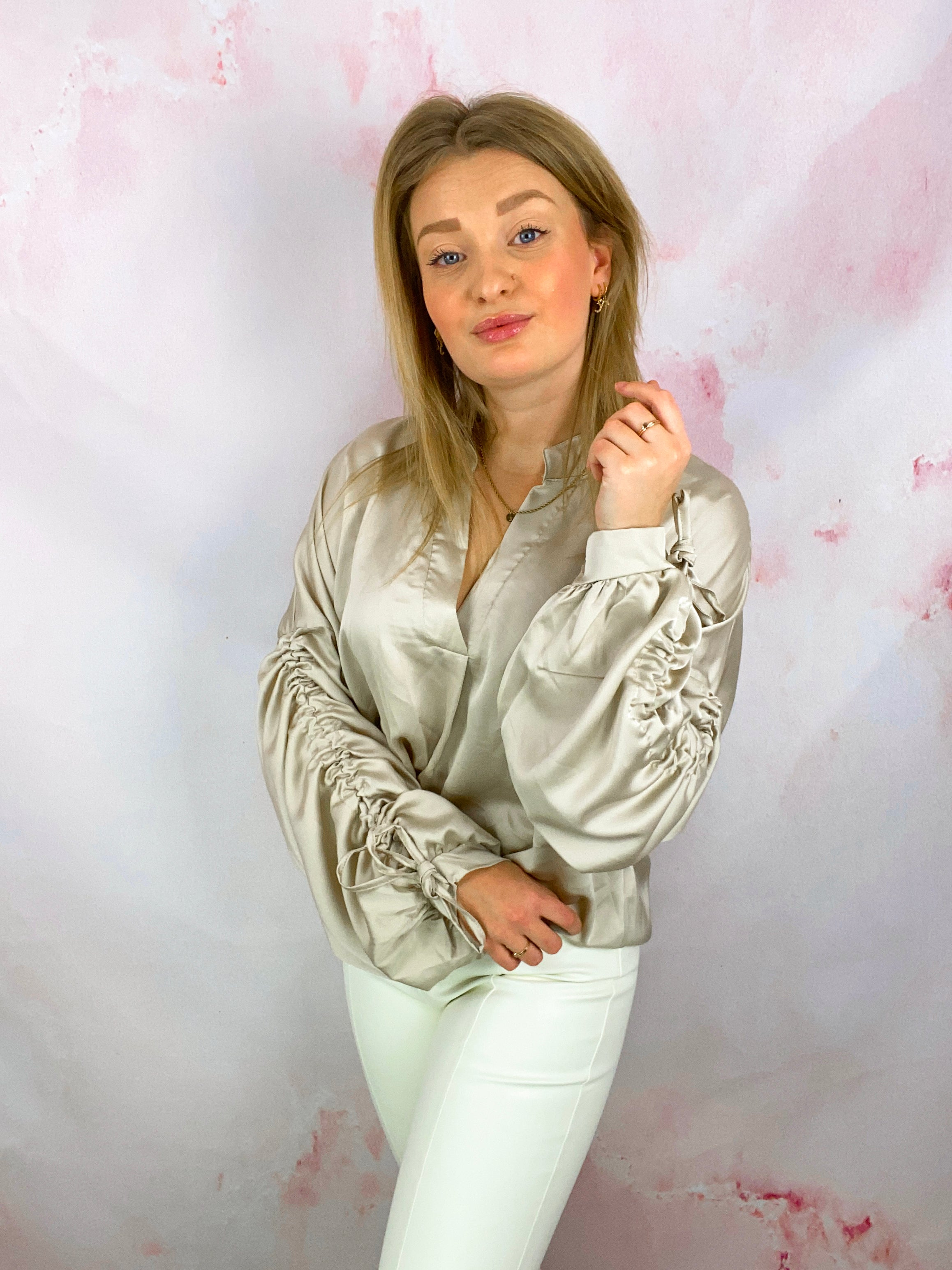 Silky Ruched Blouse