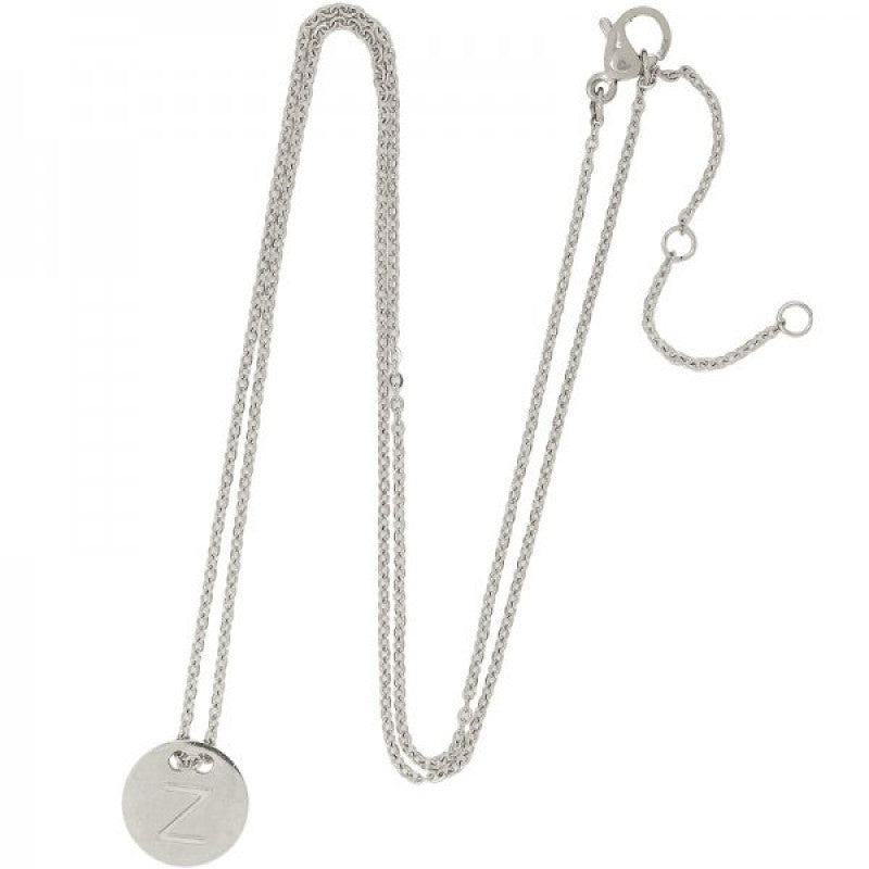 Letter ketting zilver