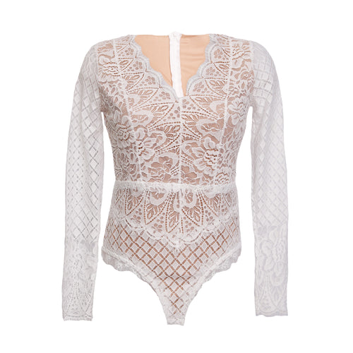 Lace body lange mouw