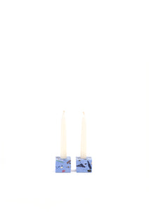 Ziv Gemstone Terrazzo Candle Holder - Stones of the Sky
