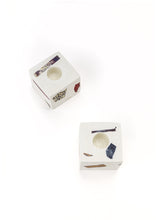 Ziv Gemstone Terrazzo Candle Holder - Neutral White