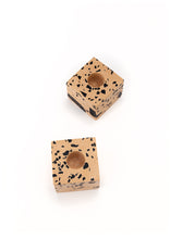 Ziv Gemstone Terrazzo Candle Holder - Cheetah