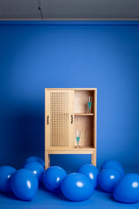 Maple bar cabinet inspired by Luis Barragan