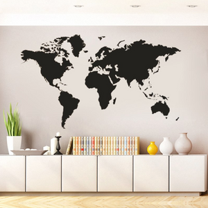 Vintage wall Sticker world map