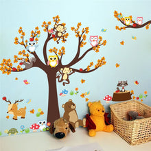 Load image into Gallery viewer, Forest Tree Animals Cartoon Wall Stickers