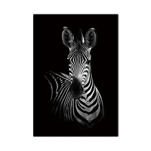 Black and white zebra canvas print